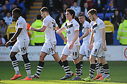 Goal - Louis Dodds of Port Vale FC celebrates after making it 1-0 during the Sky Bet League 1 match between Shrewsbury Town and Port Vale at Greenhous Meadow, Shrewsbury, England on 25 March 2016. Photo by Mike Sheridan.