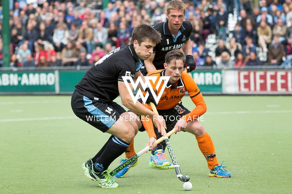 Eindhoven - OZ - HGC Heren, Hoofdklasse Hockey Heren, Seizoen 2015-2016, 30-04-2016, OZ - HGC, Gonzalo Peillat en Caspar van Dijk.