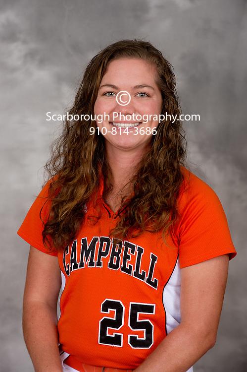 2012 Campbell University Softball portraits Campbell Fighting Camels inf Amanda Daw (25)