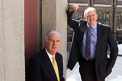 Wilson Bowden. Loc: Financial Dynamics. L to R: David Wilson Chairman, and CEO Ian Robertson,  August 30, 2000. Photo by Andrew Parsons/i-Images..
