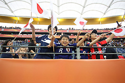 13.07.2011, Commerzbank Arena, Frankfurt, GER, FIFA Women Worldcup 2011, Halbfinale,  Japan (JPN) vs. Schweden (SWE), im Bild Riesen Freude bei den Japanischen Fans in Frankfurt.. // during the FIFA Women´s Worldcup 2011, Semifinal, Japan vs Sweden on 2011/07/13, Commerzbank Arena, Frankfurt, Germany.   EXPA Pictures © 2011, PhotoCredit: EXPA/ nph/  Mueller       ****** out of GER / CRO  / BEL ******