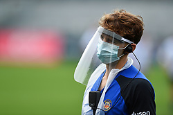 Eoin Cremen looks on with PPE, Bath Rugby were allowed to start Stage Two of the Premiership Rugby return to play protocol - Mandatory byline: Patrick Khachfe/JMP - 07966 386802 - 06/08/2020 - RUGBY UNION - The Recreation Ground - Bath, England - Bath Rugby training