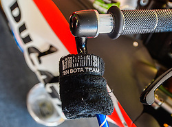 October 20, 2017 - Melbourne, Victoria, Australia - Close of brake and brake guard of the bike belonging to Italian rider Andrea Dovizioso (#4) of Ducati Team before the first free practice session of the MotoGP class at the 2017 Australian MotoGP at Phillip Island, Australia. (Credit Image: © Theo Karanikos via ZUMA Wire)
