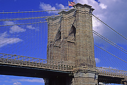 Brooklyn Bridge sunny day New York City