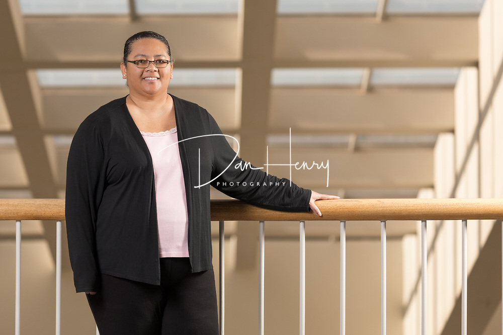 Pipan Wilson, UNUM&rsquo;s lead disability specialist and client liaison, at the Chattanooga, Tennessee campus. <br /> Photo by Dan Henry / DanHenryPhotography.com