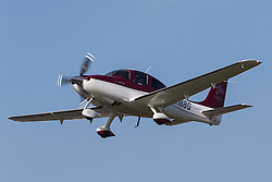 Cirrus SR22 (registration N188G) takes off from Palo Alto Airport (KPAO), Palo Alto, California, United States of America