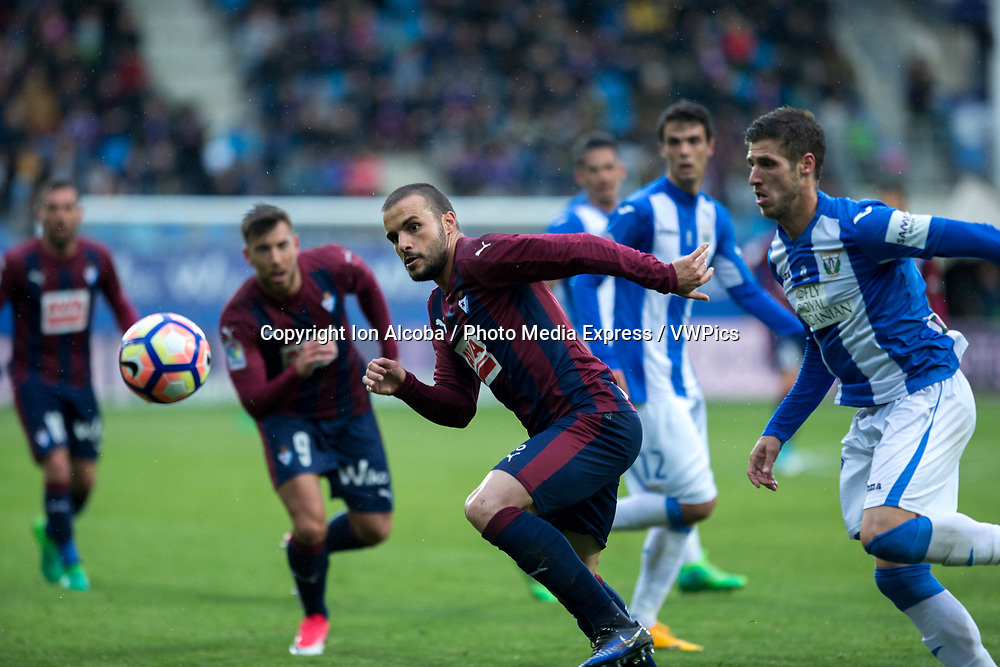Match day of La Liga Santander 2016 - 2017 season between S.D Eibar - C.D Leganes, played Ipurua Stadium on Sunday, April 30th, 2017. Eibar, Spain. 21 Pedro Leon. Photo: ION ALCOBA | PHOTO MEDIA EXPRESS