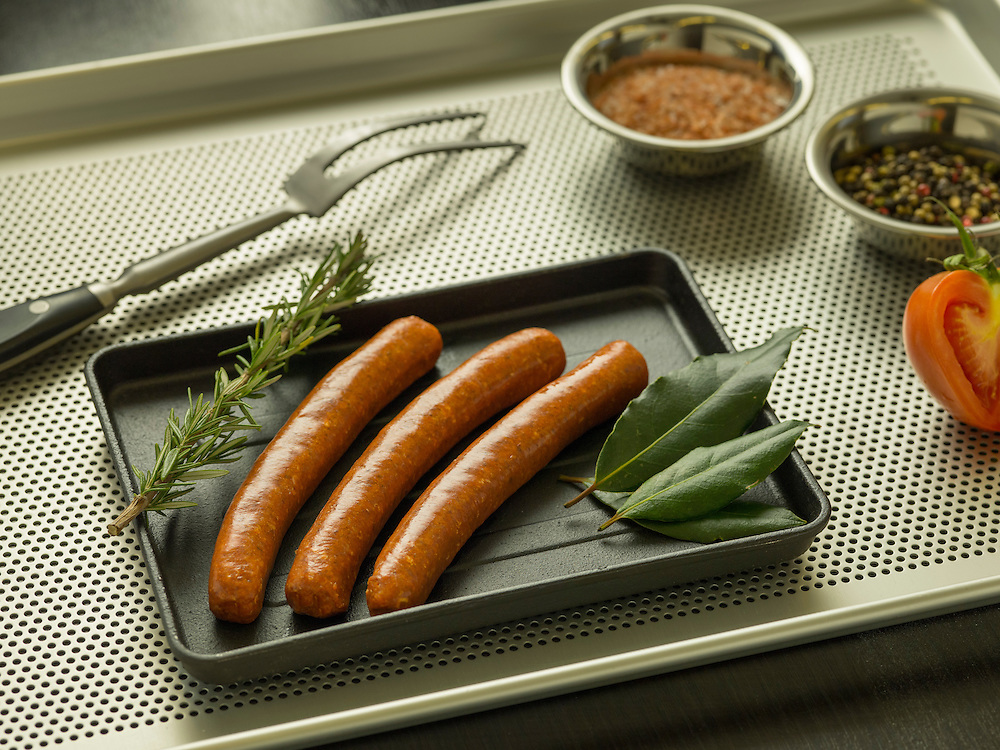 Merguez. La Boucherie meat products catalog on 25 May 2016 in Hong Kong, China. Photo by Lucas Schifres / Illume Visuals