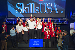 The 2017 SkillsUSA National Leadership and Skills Conference Competition Medalists were announced Friday, June 23, 2017 at Freedom Hall in Louisville. <br /> <br /> Television (Video) Production<br /> <br /> Team U (consisting of Ethan Lien, Michael Wilson)<br />   High School Warren Occupational Tech Center<br />   Gold Lakewood, CO<br /> Television (Video) ProductionTeam S (consisting of Kala McGuire, Ashley Schweigert)<br />   High School Capital Area Career Center<br />   Silver Springfield, IL<br /> Television (Video) ProductionTeam AL (consisting of Michael Manning, Levi Trumbull)<br />   High School Frederick County Career & Tech Center<br />   Bronze Frederick, MD<br /> Television (Video) ProductionTeam H (consisting of Sky McMillian, David Sonnier)<br />   College Sowela Technical Community College<br />   Gold Lake Charles, LA<br /> Television (Video) ProductionTeam A (consisting of Jesstin Chandler, Christopher Carswell)<br />   College Augusta Technical College<br />   Silver Augusta, GA<br /> Television (Video) ProductionTeam B (consisting of Jacob Burnett, Ashley Townsend)<br />   College Ozarks Technical Community College<br />   Bronze Springfield, MO