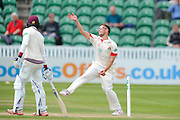 Lancashire's Simon Kerrigan during the Specsavers County Champ Div 1 match between Somerset County Cricket Club and Lancashire County Cricket Club at the County Ground, Taunton, United Kingdom on 3 May 2016. Photo by Graham Hunt.