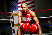 6/24/11 2:42:10 PM -- Colorado Springs, CO. -- A portrait of U.S. Olympic lightweight boxer Queen Underwood, 27, of Seattle, Wash. who will be competing for her fifth title. She began boxing in 2003 and was the 2009 Continental Champion and the 2010 USA Boxing National Champion. She is considered a likely favorite to medal at the 2012 Summer Olympics in London as women's boxing makes its debut as an Olympic sport. -- ...Photo by Marc Piscotty, Freelance.