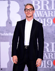 Diplo attending the Brit Awards 2019 at the O2 Arena, London.
