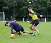 Randy Wolters goes past Julen Etxabeguren during Dundee training at the University Grounds, Riverside, Dundee<br /> <br />  - &copy; David Young - www.davidyoungphoto.co.uk - email: davidyoungphoto@gmail.com