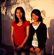 "Akha girls Pratana (17) (left) and Aranya (17) (right) have both been living at the premises of the NGO ""Children of The Golden Triangle"" for about 9 years. They both want to become teachers so that they can go back to their villages and teach their people."