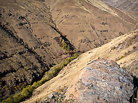 WA State Route 129 decends down Rattlesnake Grade to the Grande Ronde River - Blue Mountains - in remote Asotin County, WA, USA