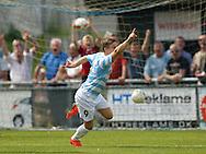 FODBOLD: André Riel (FC Helsingør) jubler efter hans overtidsscoring til 2-1 under kampen i Bet25 Ligaen mellem FC Helsingør og Næstved Boldklub den 2. august 2015 på Helsingør Stadion. Foto: Claus Birch