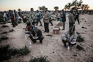 After leaving Libya, thousand of migrant workers arrive at an UNHCR transit camp in Choucha, 7 km from Tunisia's Ras Jedir border station.<br /> 05 March 2011.