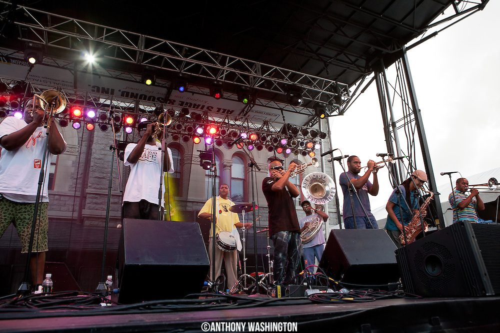 Rebirth Brass Band performs at Artscape 2012 on Sunday, July 22, 2012 in Baltimore, MD.