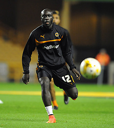 Wolverhampton Wanderers' Yannick Sagbo makes his debut after completing an emergency loan from Hull City - Photo mandatory by-line: Dougie Allward/JMP - Mobile: 07966 386802 - 01/10/2014 - SPORT - Football - Wolverhampton - Molineux Stadium - Wolverhampton Wonderers v Huddersfield Town - Sky Bet Championship
