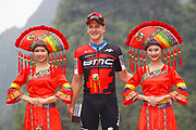 Podium Stefan Kung (SUI - BMC) during the Tour of Guangxi 2018, stage 4 cycling race, Nanning - Nongla Scenic Area (152,2 km) on October 19, 2018 in Nongla, China - Photo Luca Bettini / BettiniPhoto / ProSportsImages / DPPI
