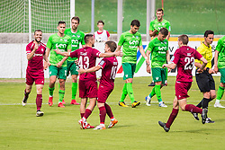 DavidTijanic of NK Triglav Kranj celebrate during football match between NK Triglav Kranj and NK Krskoi in Round #29 of Prva Liga Telekom Slovenije 2017/18, on May 2, 2018 in Sports park Kranj, Kranj, Slovenia. Photo by Ziga Zupan / Sportida