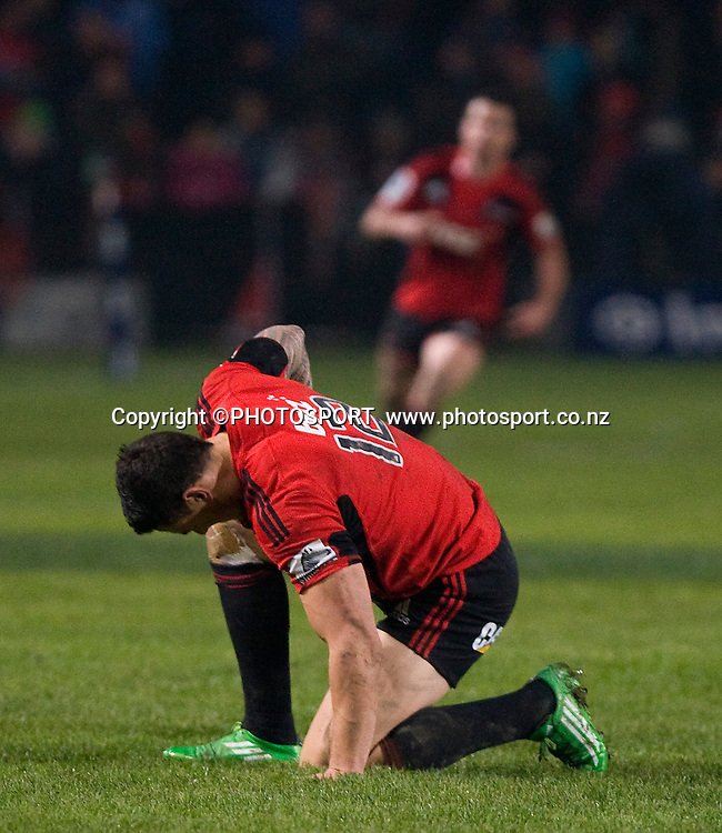 The moment Sonny Bill Williams is injured playing for the Crusaders. Canterbury Crusaders v Auckland Blues at Alpine Energy Stadium, Timaru, New Zealand. Saturday 11 June 2011. Joseph Johnson/photosport.