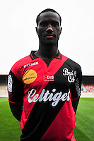 Benjamin ANGOUA - 16.09.2014 - Photo officielle Guingamp - Ligue 1 2014/2015<br /> Photo : Philippe Le Brech / Icon Sport