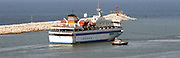 M/S Mavi Marmara Humanitarian support ship leaves the Israeli harbour after the takeover