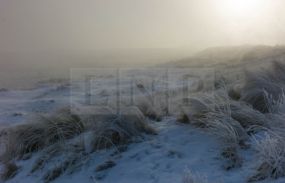 © Licensed to London News Pictures. 17/01/2013..South Gare, Teesside, England..An ice cold winter fog blankets an area known as South Gare on Teesside...Photo credit : Ian Forsyth/LNP