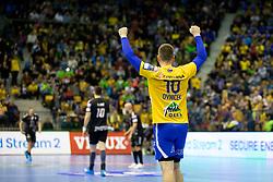 Rok Ovnicek of RK Celje Pivovarna Lasko during handball match between RK Celje Pivovarna Lasko (SLO) and HC PPD Zagreb (CRO) in Group phase of VELUX EHF Men's Champions League 2018/19, November 18, 2018 in Arena Zlatorog, Celje, Slovenia. Photo by Urban Urbanc / Sportida
