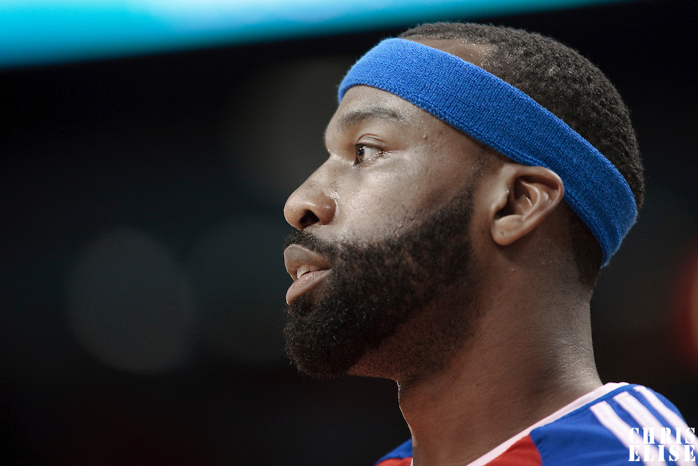 10 March 2010: Los Angeles Clippers guard Baron Davis is seen prior to the Miami Heat 108-97 victory over the Los Angeles Clippers at the AmericaAirlines  Arena, in Miami, Florida, USA.