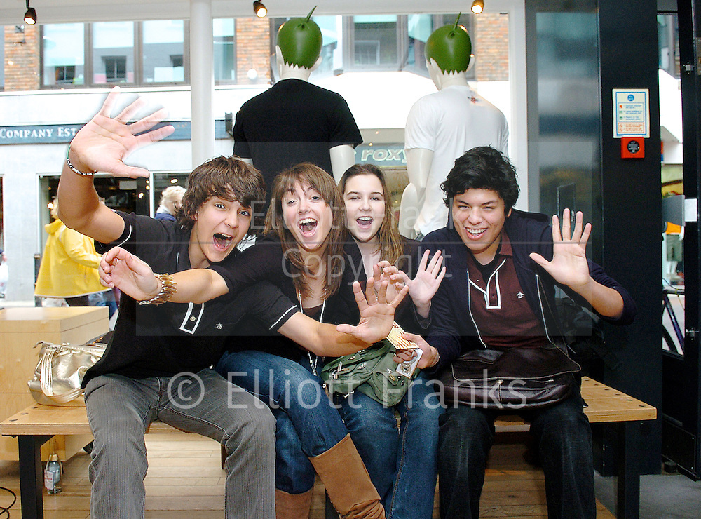 Sons of Jim <br /> In Store appearance at Vans, Carnaby Street, London, Great Britain<br /> May 29, 2006 <br /> <br /> EXCLUSIVE COVERAGE<br /> <br /> Fans l to r<br /> Nick Barnard ; Sarah Barnard ; Kerry Begadon ; Christian Burbano  Jamie Dornan in the band <br /> Sons of Jim <br />In-Store appearance at Vans, Carnaby Street, London, Great Britain<br />May 29, 2006 <br /><br />Jamie Dornan &amp; David Alexander of Sons of Jim <br /> <br /> Jamie Dornan stars in 50 Shades of Grey that comes out in the UK 13th February 2015. <br /> <br /> Photograph by Elliott Franks