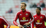 Jan Kirchhoff of Sunderland warms up prior to the Barclays Premier League match at the Stadium Of Light, Sunderland<br /> Picture by Simon Moore/Focus Images Ltd 07807 671782<br /> 11/05/2016