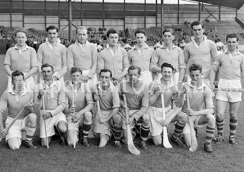 Hurling, Wexford v Antrim. Antrim team All-Ireland Croke Park. 08/08/1954 (Part of Independent Newspapers Ireland/NLI Collection)