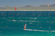 Kite Surfing at Ventana Bay Resort, El Sargento, Sea of Cortez, Baja California Sur, Mexico
