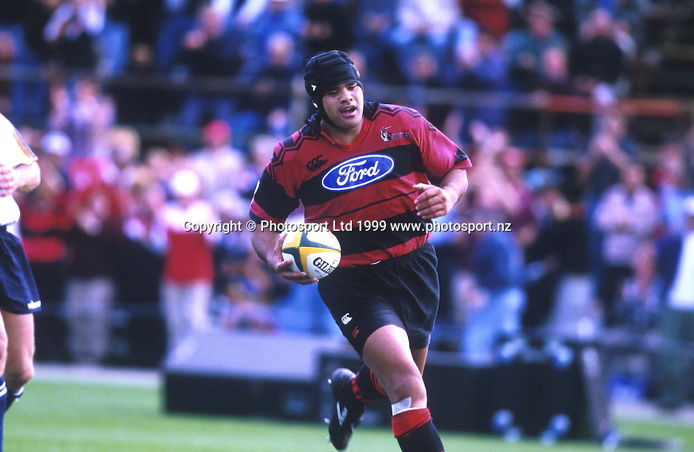 Norm Berryman in action, Canterbury Crusaders, Super 12 Rugby union, 1999. Photo: PHOTOSPORT