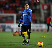 Brighton striker, Anthony Knockaert (27) warming up during the Sky Bet Championship match between Rotherham United and Brighton and Hove Albion at the New York Stadium, Rotherham, England on 12 January 2016.