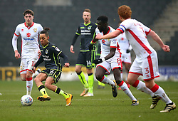 Kyle Bennett of Bristol Rovers takes on Ousseynou Cisse of Milton Keynes Dons - Mandatory by-line: Robbie Stephenson/JMP - 03/03/2018 - FOOTBALL - Stadium MK - Milton Keynes, England - Milton Keynes Dons v Bristol Rovers - Sky Bet League One