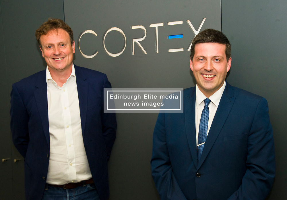Pictured: Cortex CEO Peter pPoud welcomed Jamie Hepburn to his company<br /> <br /> Minister for Employability and Training Jamie Hepburn visited Cortex Worldwide in Edinburgh today as he commented on the latest Labour Market Statistics and Modern Apprenticeship figures.<br /> Cortex Worldwide is a leading cloud based solutions company based in Edinburgh which employs a number of Modern and Graduate Apprentices. <br /> <br /> <br /> Ger Harley | EEm 12 June 2018