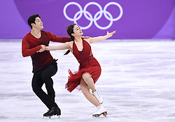 PYEONGCHANG, Feb. 12, 2018  Maia Shibutani (R) and Alex Shibutani of the United States compete during the ice dance free dance of figure skating team event at the 2018 PyeongChang Winter Olympic Games, in Gangneung Ice Arena, South Korea, on Feb. 12, 2018. The United States won the bronze medal of figure skating team event with 62 points in total. (Credit Image: © Ju Huanzong/Xinhua via ZUMA Wire)