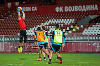 NOVI SAD - 17-08-2016, Vojvodina - AZ, Karadjordje Stadion, training, persconferentie, AZ keeper Sergio Rochet