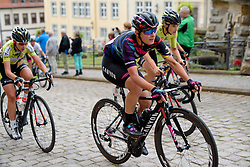 Barbara Guarischi (CANYON//SRAM Racing) takes on the climb through Gotha at Thüringen Rundfarht 2016 - Stage 1 a 67km road race starting and finishing in Gotha, Germany on 15th July 2016.