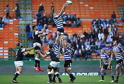 Kobus van Dyk of Western Province gets up high to win the line out ball during the Currie Cup Premier Division match between the DHL Western Province and the Sharks held at the DHL Newlands Rugby Stadium in Cape Town, South Africa on the 3rd September  2016<br /> <br /> Photo by: Shaun Roy / RealTime Images