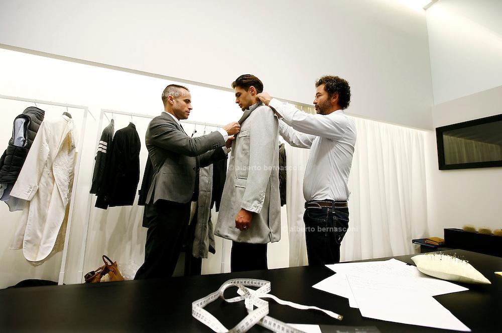 Milano, atelier Moncler uomo, Tom Brown ,sn, e Remo Ruffino