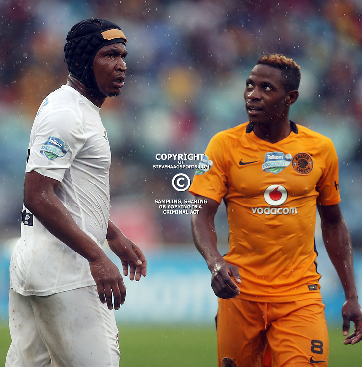 Paulus Masehe of Free State Stars and Michelle Katsvairo of Kaizer Chiefs during the Telkom Knockout quarterfinal  match between Kaizer Chiefs and Free State Stars at the Moses Mabhida Stadium , Durban, South Africa.6 November 2016 - (Photo by Steve Haag Kaizer Chiefs)