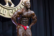 March 1, 2014 - Columbus, Ohio, U.S - <br /> <br /> Bodybuilding 2014 - Arnold Classic<br /> <br /> TONEY FREEMAN (9) competes in the 2014 Arnold Classic at the Arnold Sports Festival in Columbus, Ohio. <br /> ©Exclusivepix