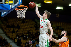 Luka Samanic of Petrol Olimpija during basketball match between KK Petrol Olimpija and KK Helios Suns in Round #9 of Liga Nova KBM 2018/19, on December 14, 2018 in Arena Tivoli, Ljubljana, Slovenia. Photo by Vid Ponikvar / Sportida
