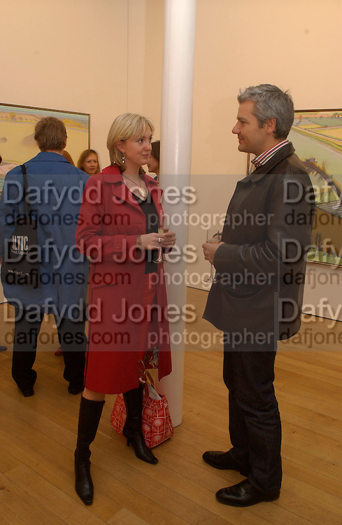 Jules Dixon and Wayne Thiebaud opening, Faggionato Fine Arts, Albermarle St. 10 April 2003. © Copyright Photograph by Dafydd Jones 66 Stockwell Park Rd. London SW9 0DA Tel 020 7733 0108 www.dafjones.com