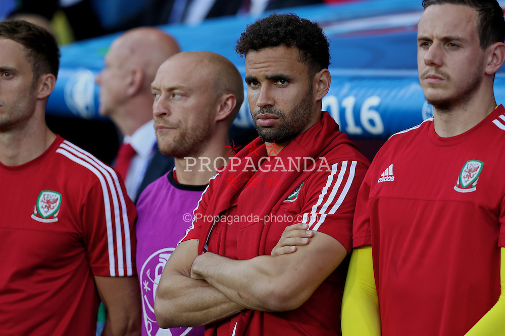 TOULOUSE, FRANCE - Monday, June 20, 2016: Wales' Hal Robson-Kanu before the final Group B UEFA Euro 2016 Championship match against Russia at Stadium de Toulouse. (Pic by David Rawcliffe/Propaganda)