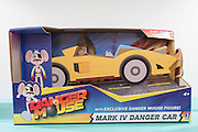 UNITED KINGDOM, London: 25 January 2016 Danger Mouse Mark IV Danger Car on display at The Toy Fair at Olympia, the UK'S only dedicated game and hobby event with more than 260 toy and gaming brands. The fair runs until tomorrow. Rick Findler / Story Picture Agency